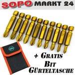 Bit Set 10tlg Kreuz/ Schlitz PH/ PZ Bit Sortiment Lang Bits CV Makita/ Wiha 102 Bild 2