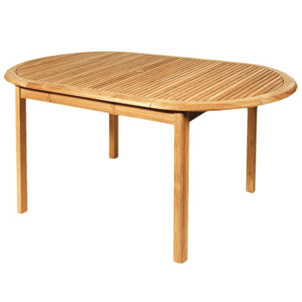 teak holz tisch oval 180x100cm garten balkon klapptisch. Black Bedroom Furniture Sets. Home Design Ideas
