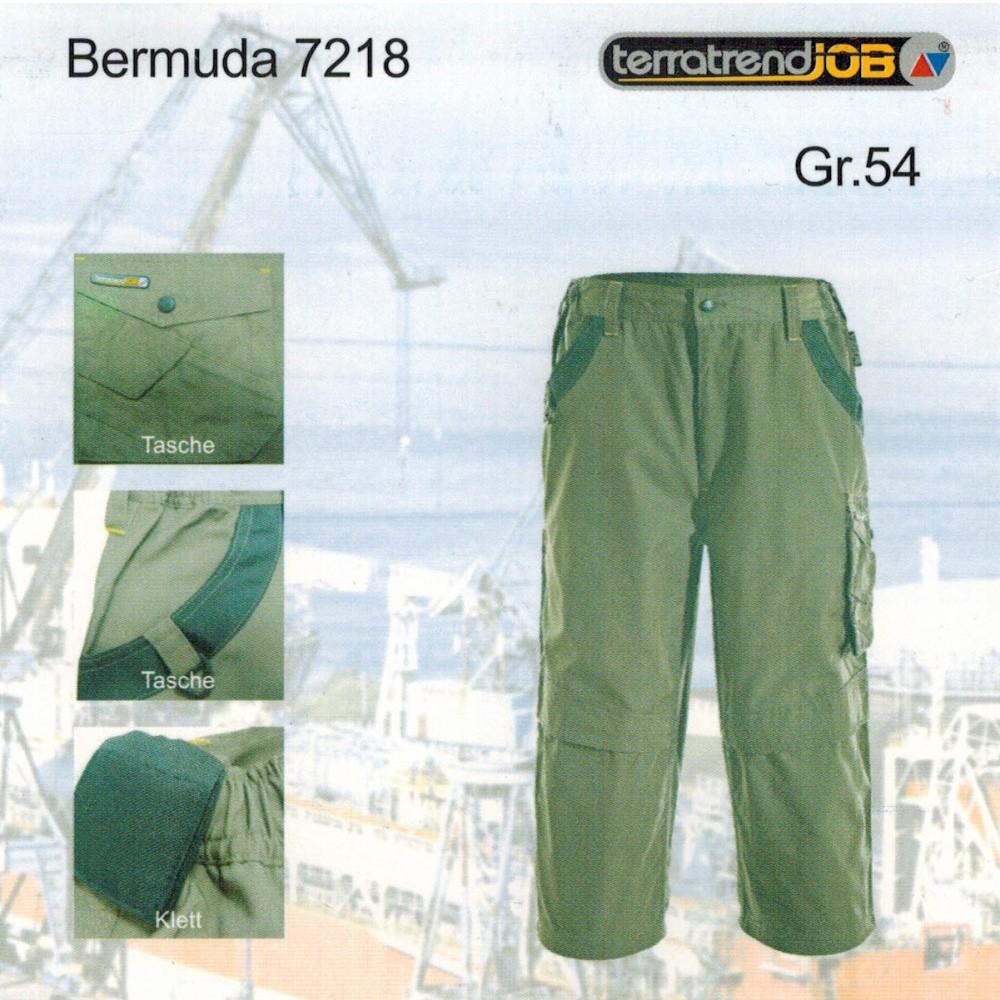 Arbeitshose Bermuda Latzhose Short Bundhose Camouflage Anglerhose Terratrend Job
