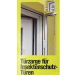 Fliegengitter Insektenschutz Tür Klemmzarge Zarge Weiß / Braun Alu Rahmen Bild 2