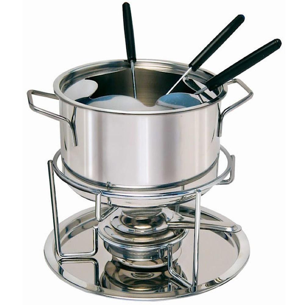 fondue set edelstahl 11 teilig fondue topf deckel gabel brenner party fest 4088 k che bad wc 3076. Black Bedroom Furniture Sets. Home Design Ideas