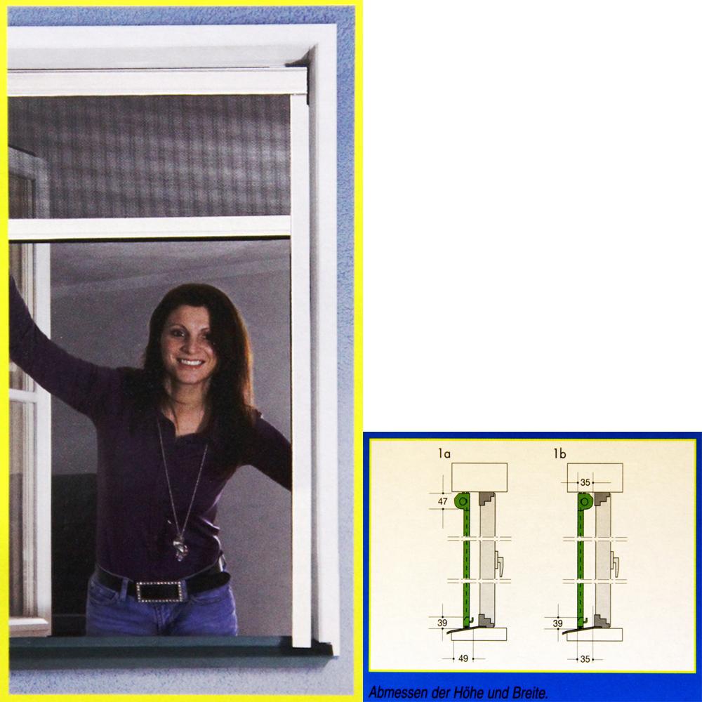Sehr Fliegengitter Insektenschutz Rollo Fenster o. Tür Netz Klemmrollo KI54