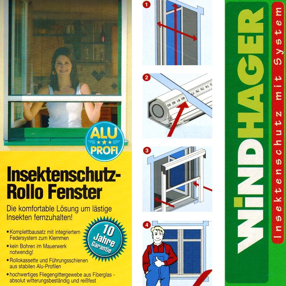 Fliegengitter Insektenschutz Rollo Fenster o. Tür Netz Klemmrollo Schiebetür