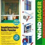 Windhager Insektenschutz Rollo Fenster 130x160cm Weiß Fliegengitter 03812 001