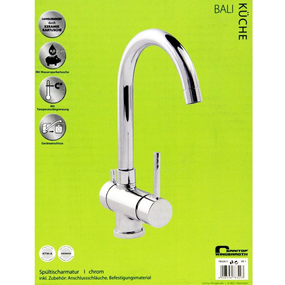 AquaSu Küchenarmatur Armatur f Spühltisch Waschbecken