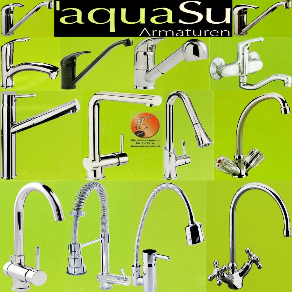 Aquasu Kuchenarmatur Armatur F Spuhltisch Waschbecken Mischbatterie