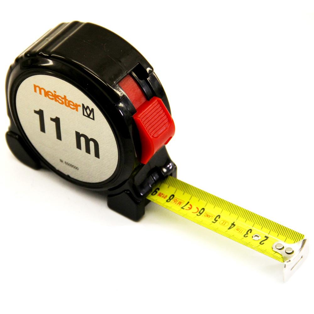 Stahl Rollbandmass 11m Bandmaß Maßband Messband Rollmeter Meter Meister 6509500