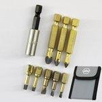 Dura Bit Set Bits Torx PH Schlitz Schrauberbit Bithalter Tasche Wiha Lux 7010-S5