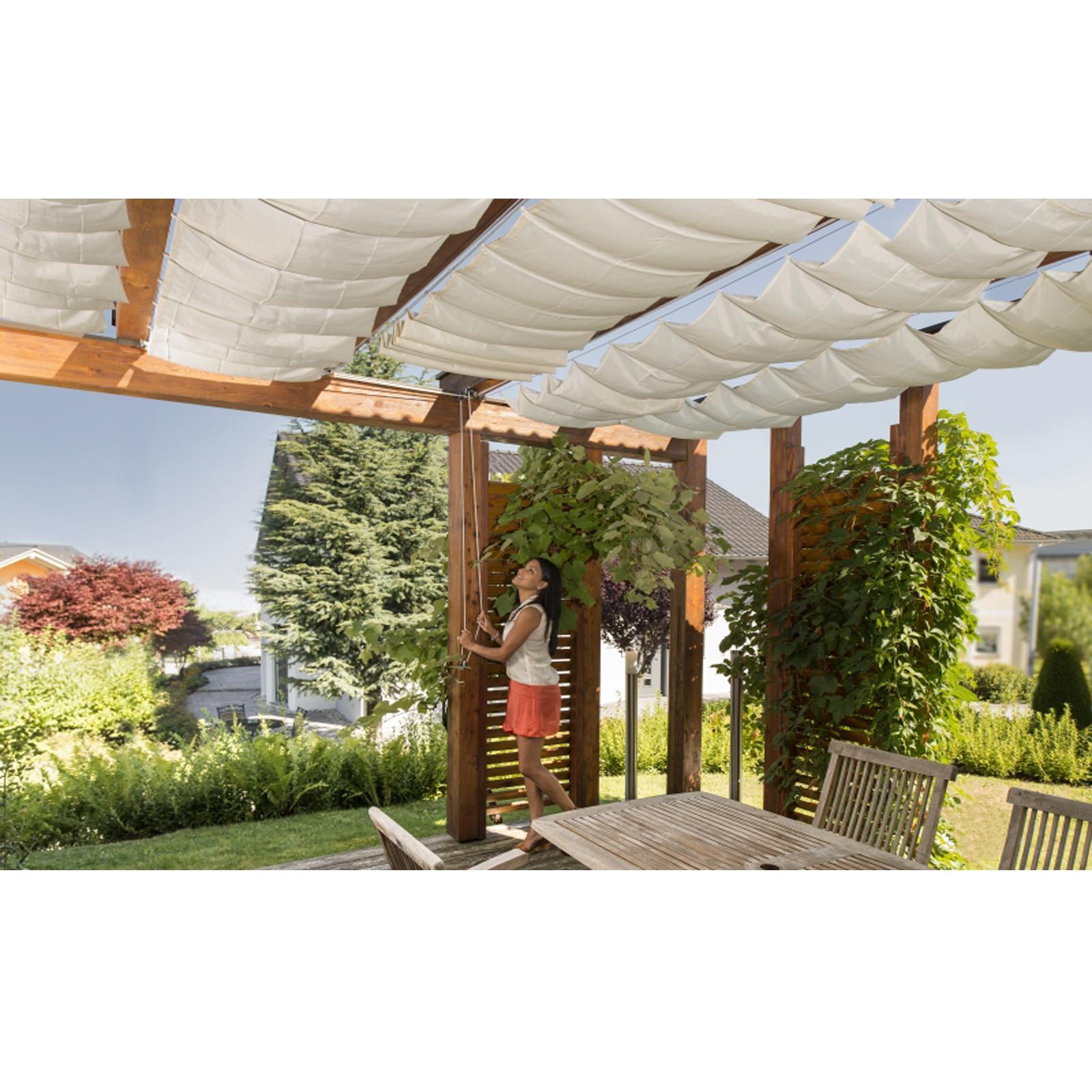 sonnensegel seilspannmarkise set wintergarten pergola beschattung sm270 windhager 3771. Black Bedroom Furniture Sets. Home Design Ideas