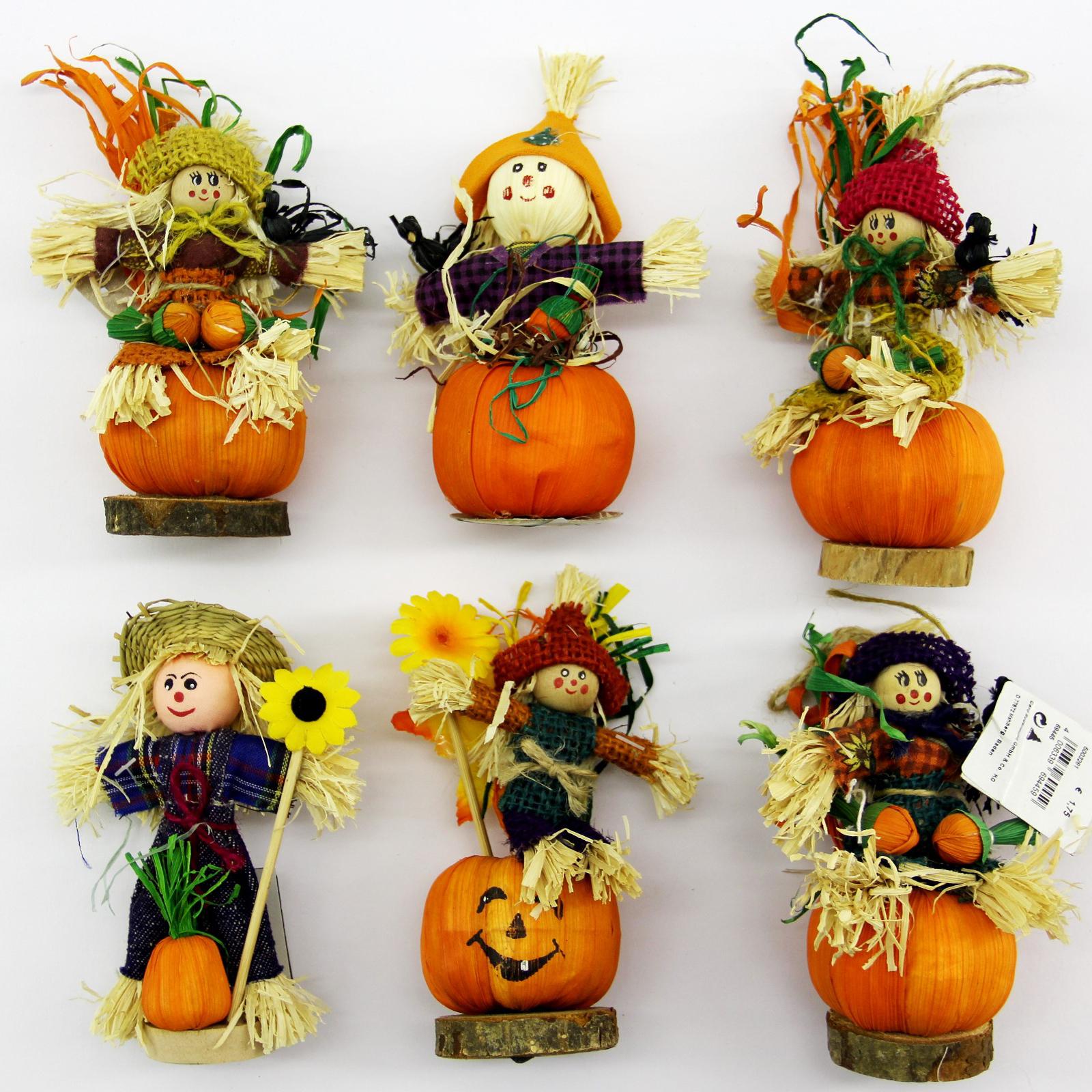 Herbst Deko Herbstdekoration Aufhänger Tisch Fenster Schmuck Blumen Igel Figur