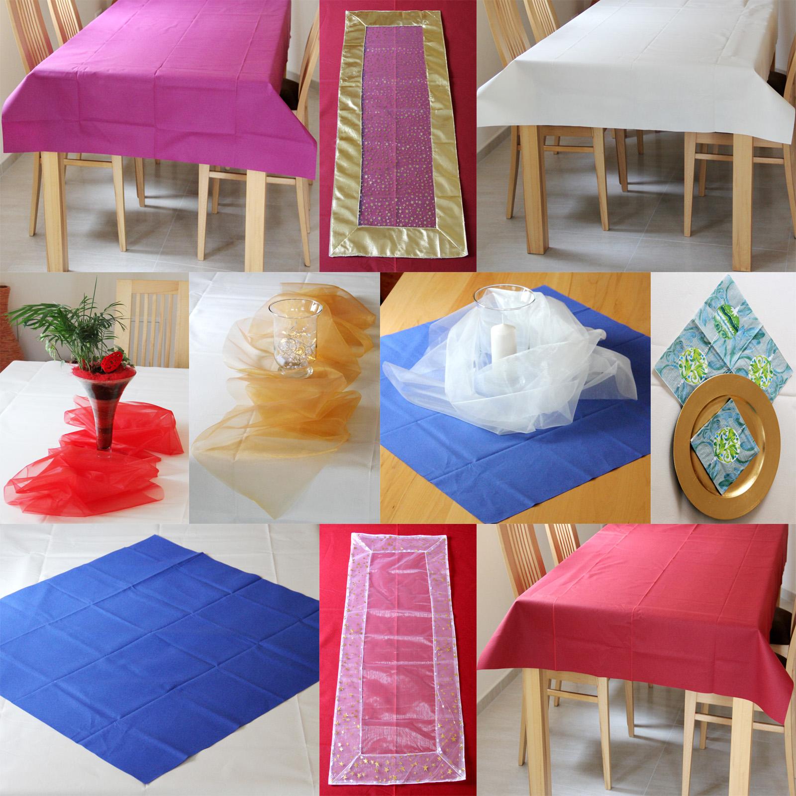 Weihnachts Tischdecke Tischlaufer Deko Stoff Organza Party Hochzeit