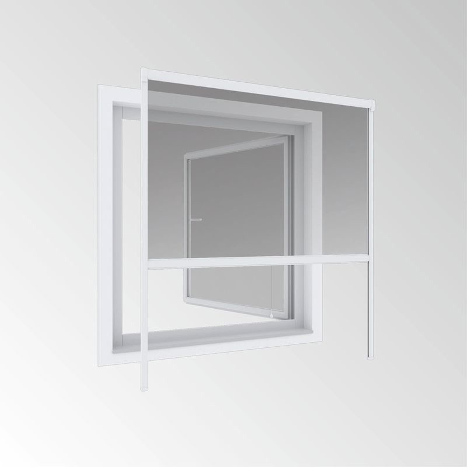 PVC Fliegengitter Insektenschutz Rollo Fenster Netz 130x160cm Weiß