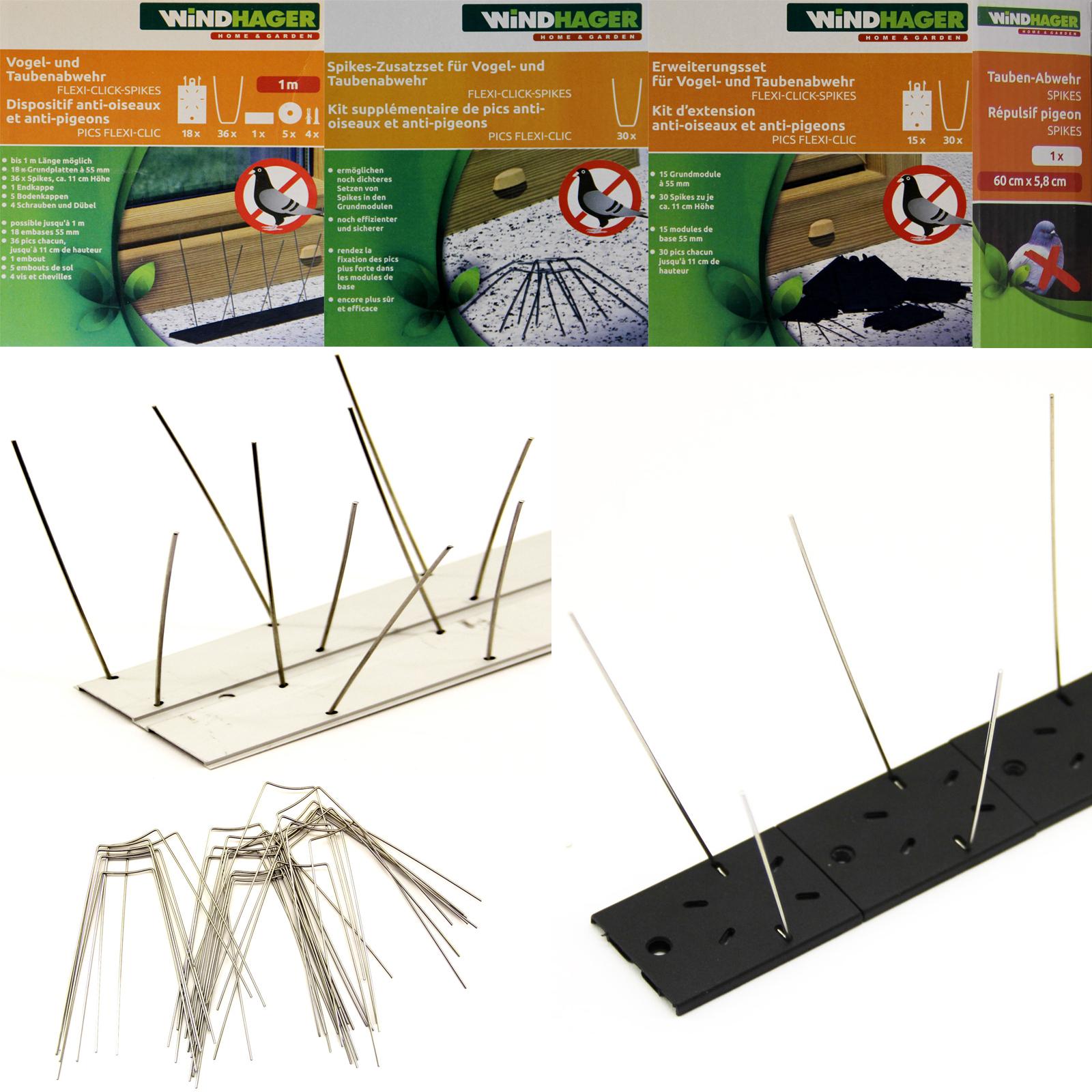 Taubenabwehr Vogelschreck Vogelabwehr Spikes Taubenspikes PVC Alu Edelstahl