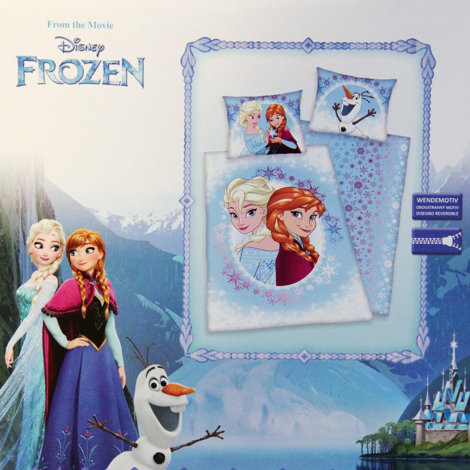 Kinder Bettwäsche Cars Frozen Disney Kissenbezug Bettbezug 140x200+70x90cm