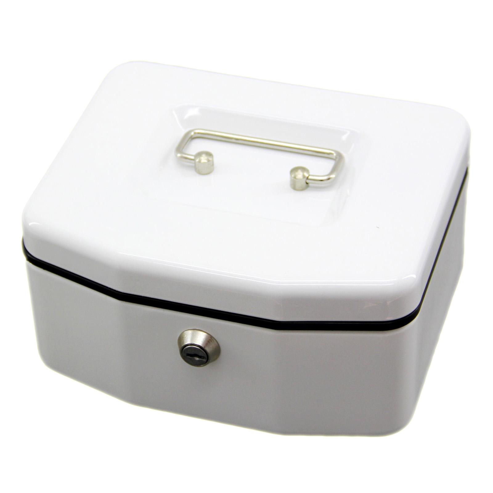 Geldkassette Weiß Geldbox Geldkasse Münzfach Münzkassette Wesco 100x165x200mm