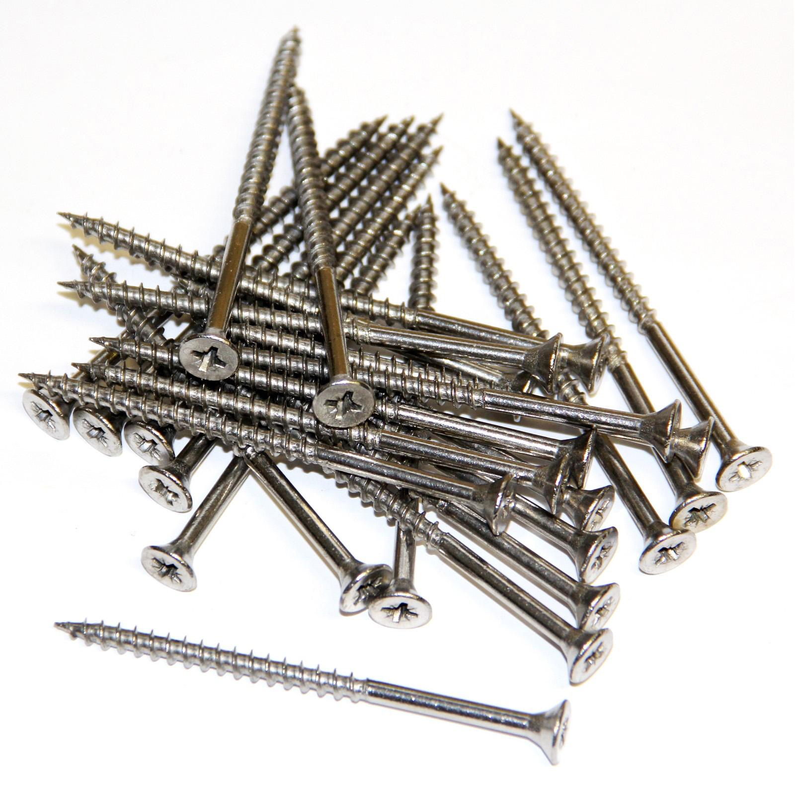 Spanplattenschrauben Edelstahlschrauben 25 Stück 5x80mm Holzschrauben V2A A2