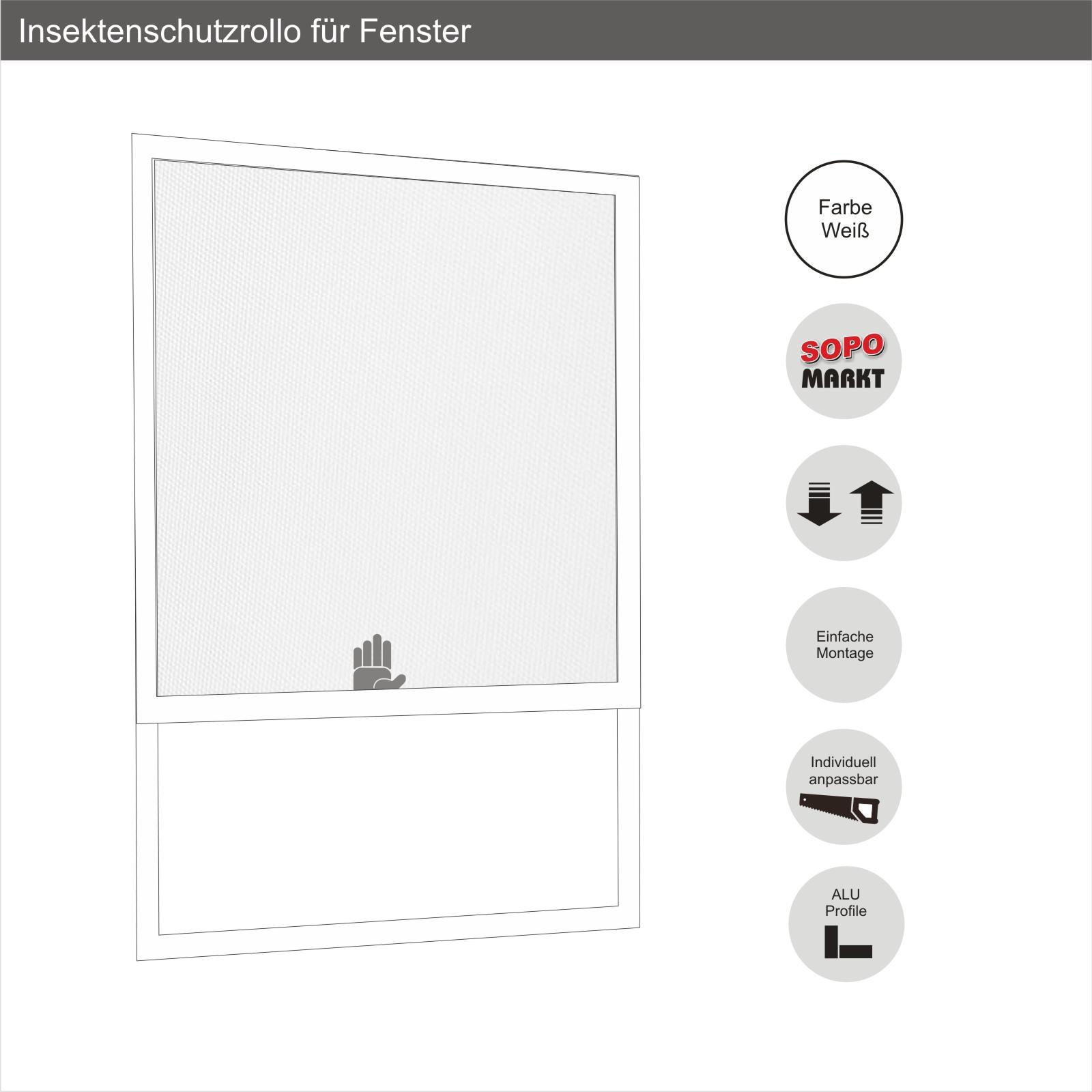 Insektenschutzrollo für Fenster oder Tür