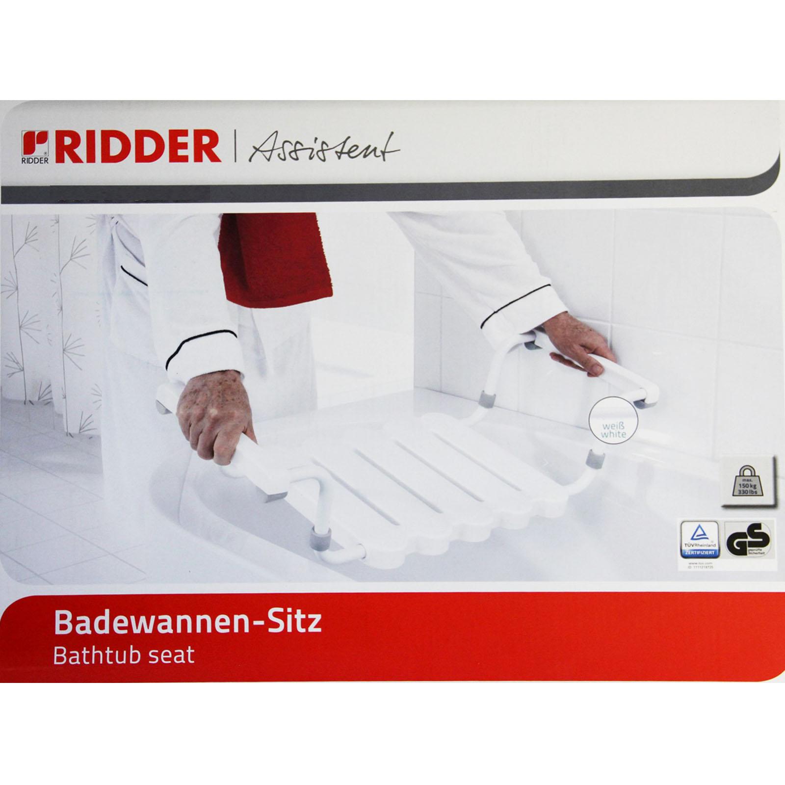 Badewannensitz Wannensitz Badehilfe Dusch Hilfe Rentner Sitz 150kg Ridder 101